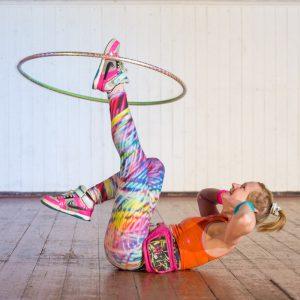 Hula hoop performer
